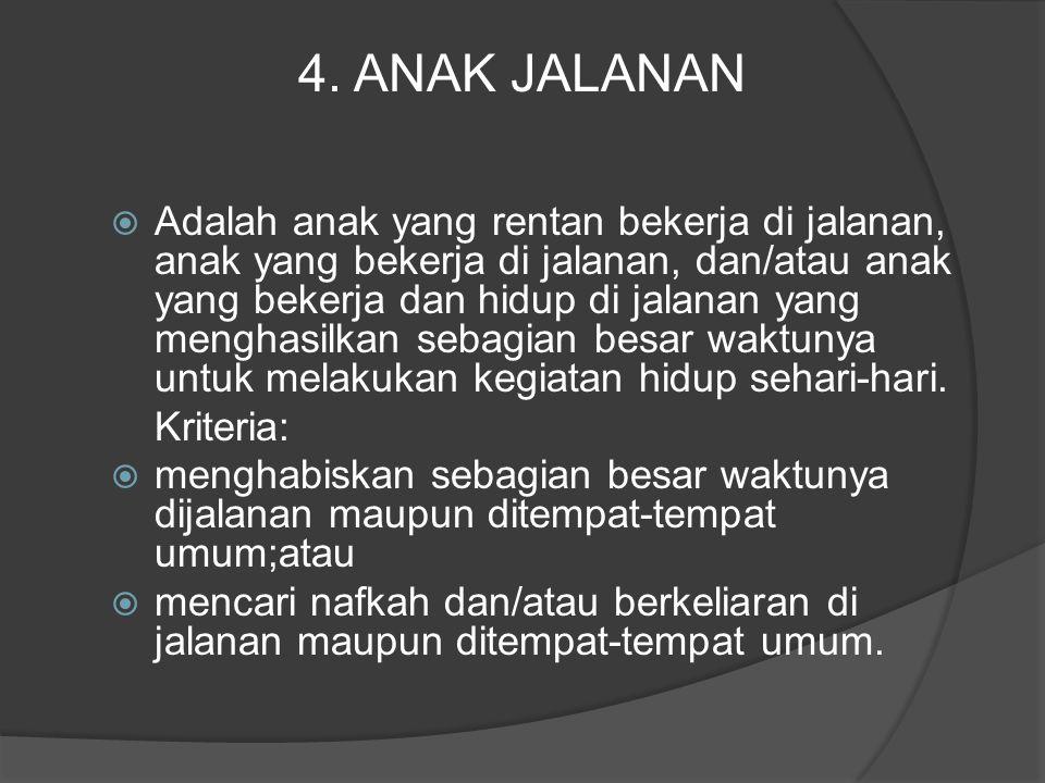 4. ANAK JALANAN