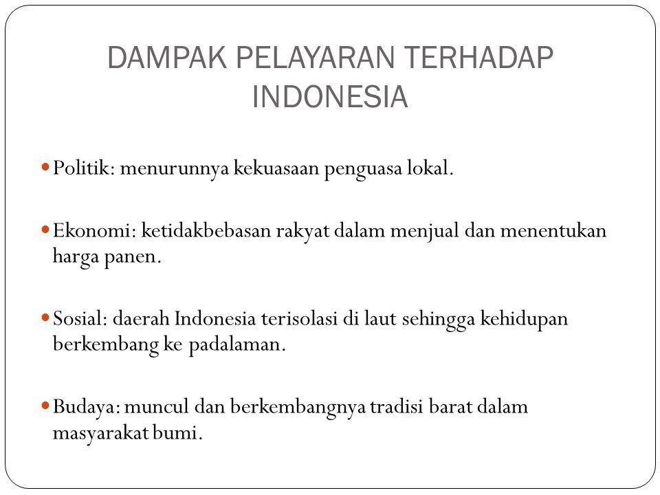 DAMPAK PELAYARAN TERHADAP INDONESIA