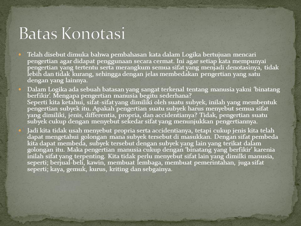 Batas Konotasi