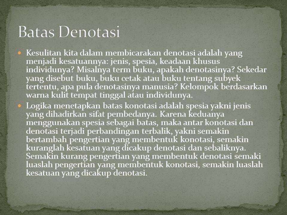 Batas Denotasi