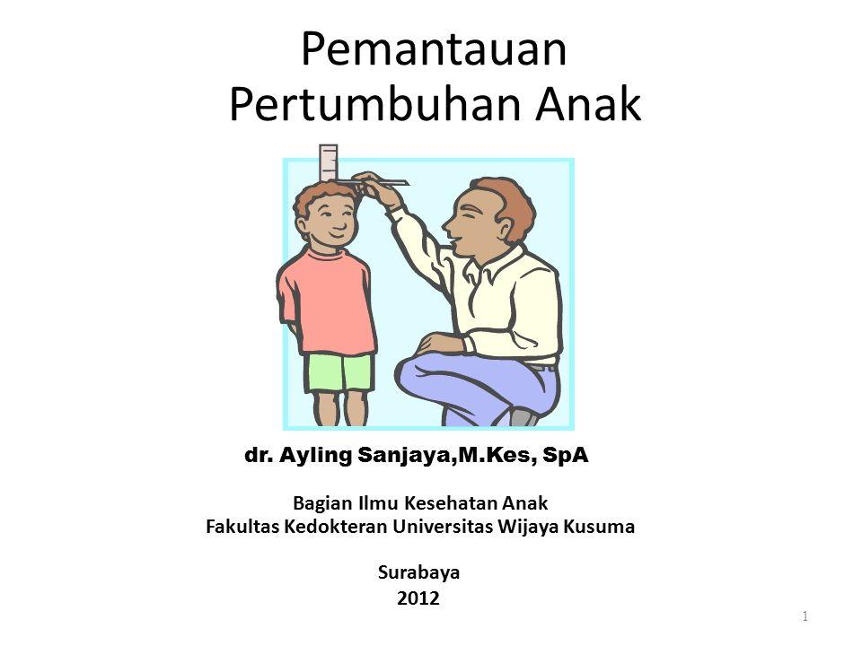 Pertumbuhan Anak Pemantauan dr. Ayling Sanjaya,M.Kes, SpA