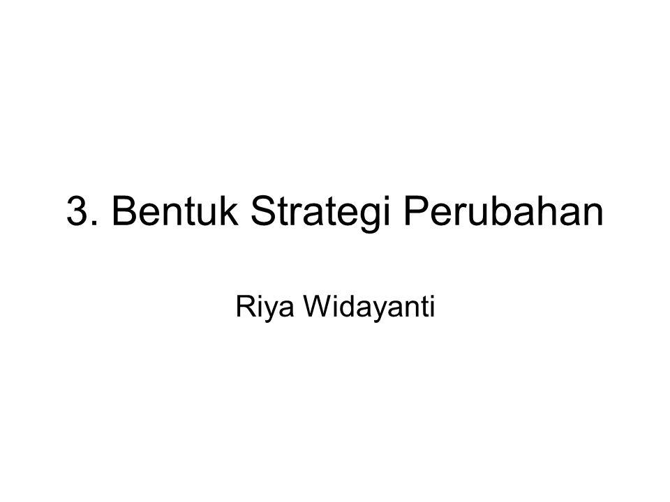 3. Bentuk Strategi Perubahan