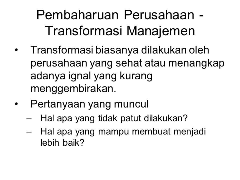 Pembaharuan Perusahaan - Transformasi Manajemen