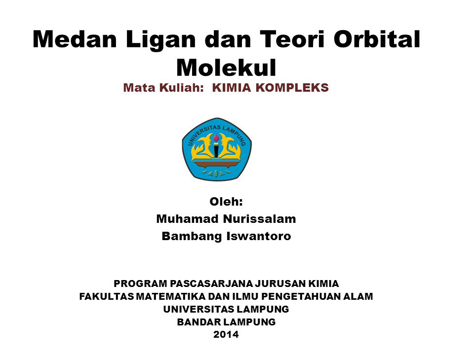 Medan Ligan dan Teori Orbital Molekul