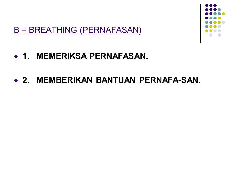 B = BREATHING (PERNAFASAN)