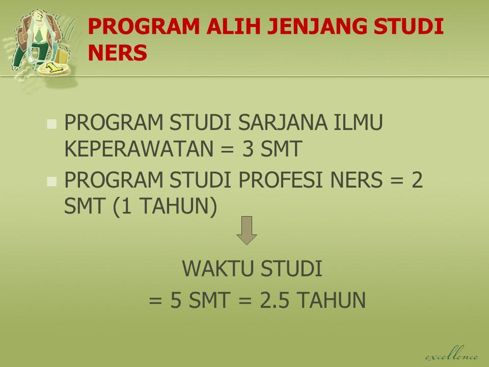 PROGRAM ALIH JENJANG STUDI NERS