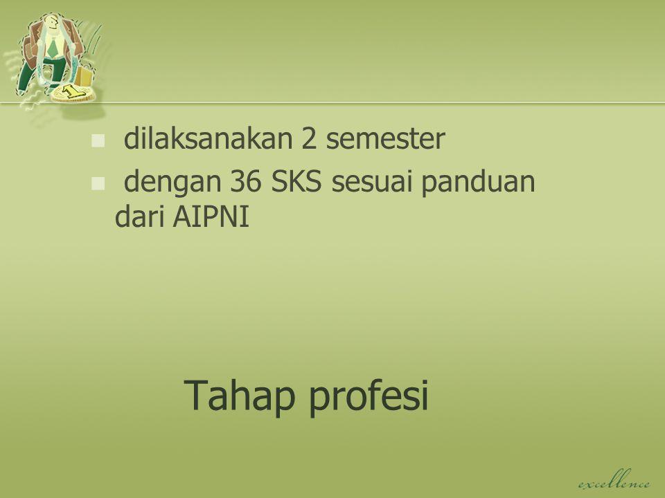 Tahap profesi dilaksanakan 2 semester