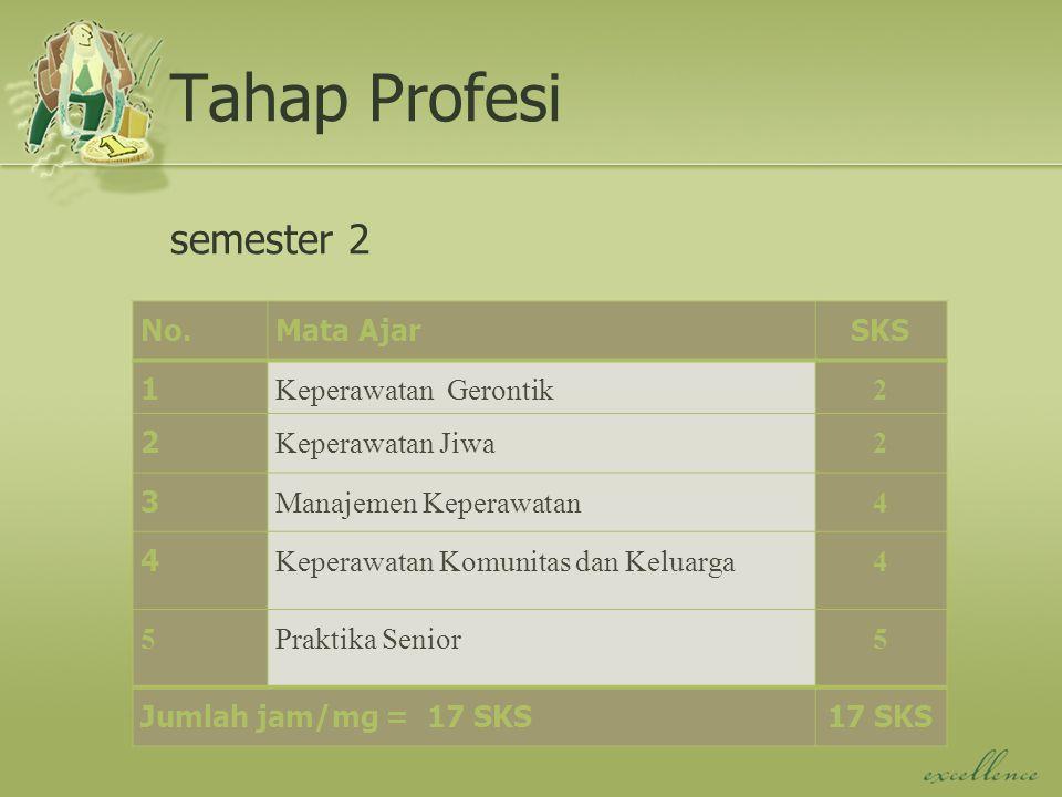 Tahap Profesi semester 2