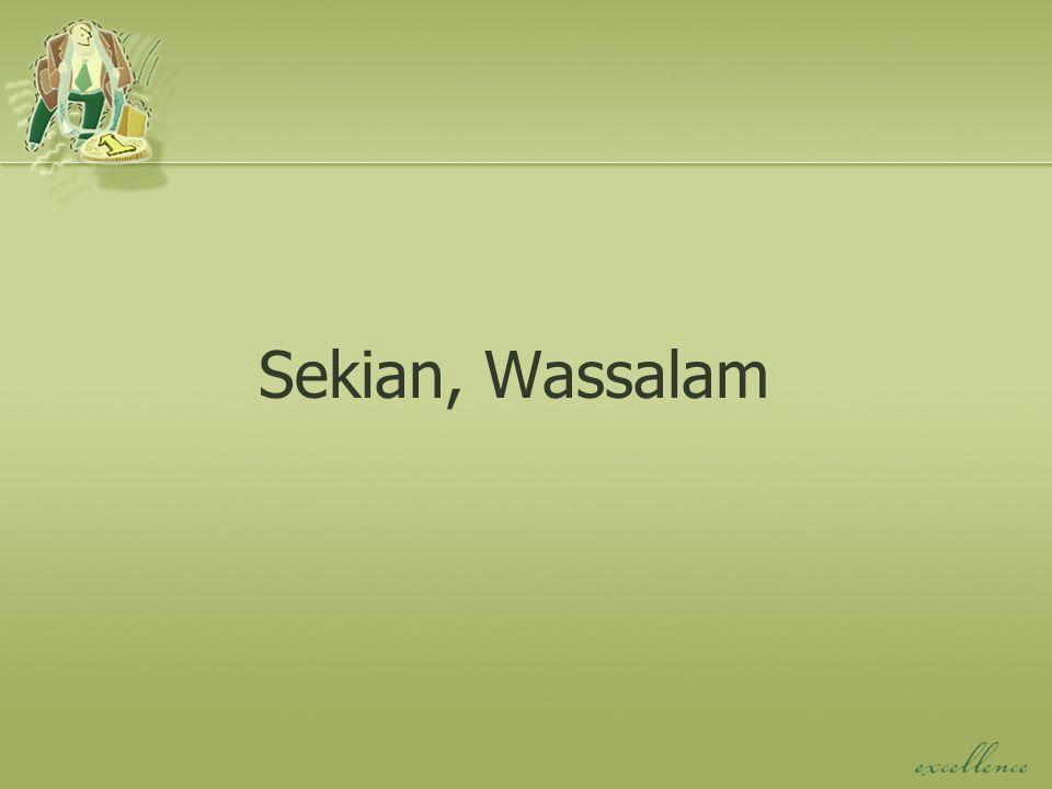 Sekian, Wassalam