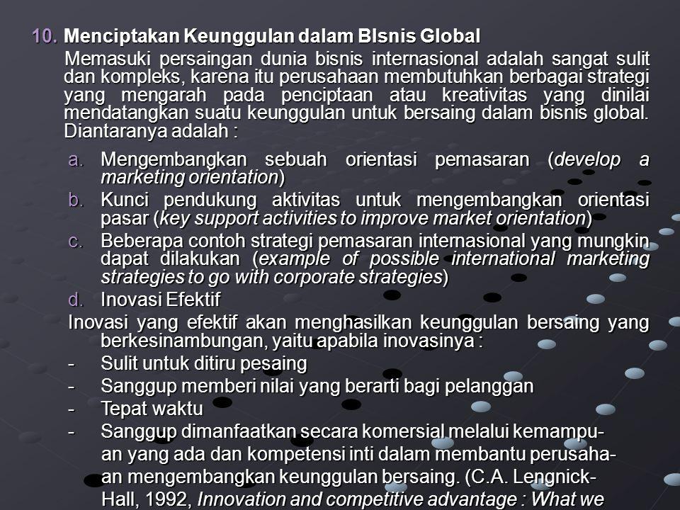 Menciptakan Keunggulan dalam BIsnis Global