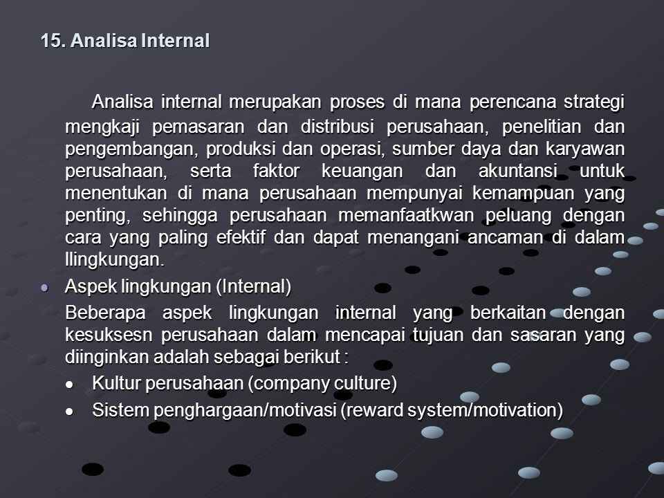 15. Analisa Internal