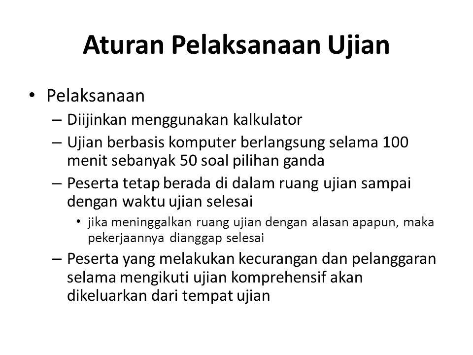 Aturan Pelaksanaan Ujian