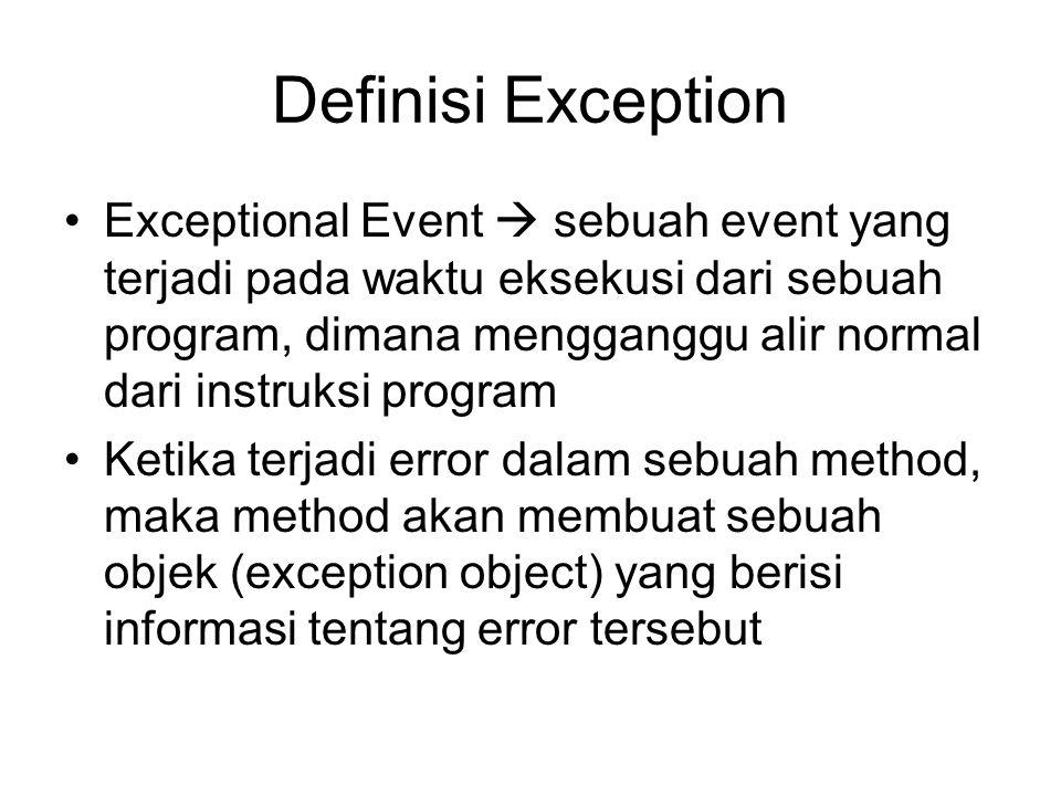 Definisi Exception