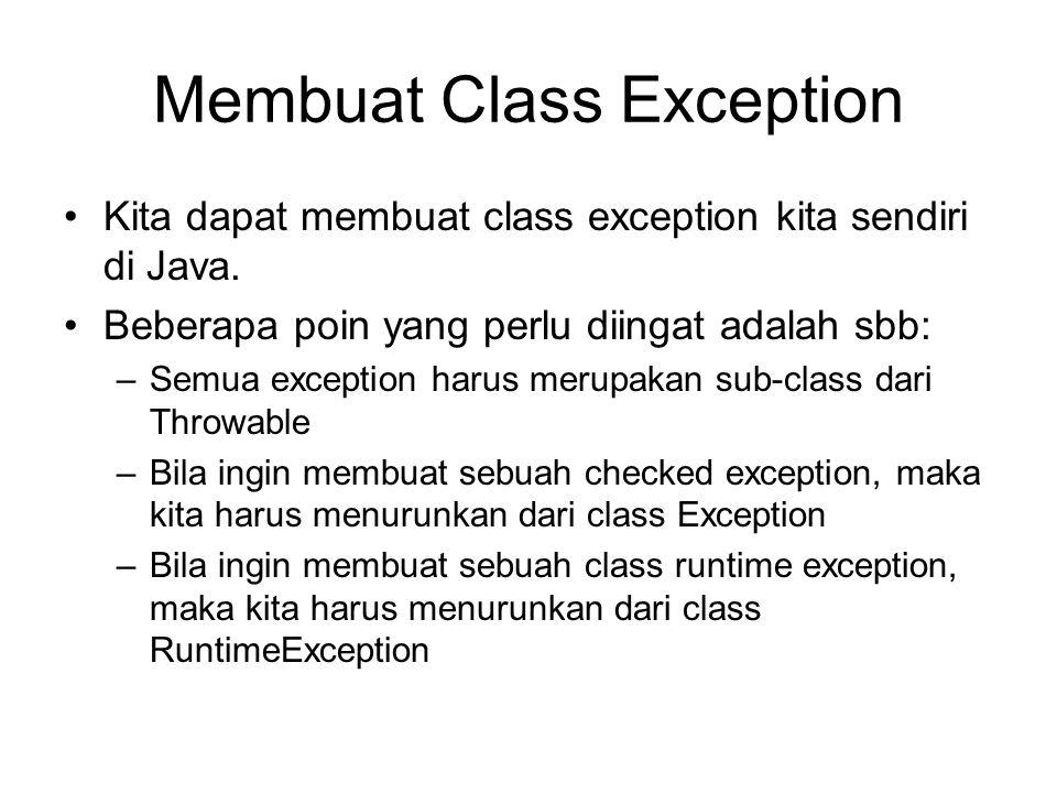 Membuat Class Exception