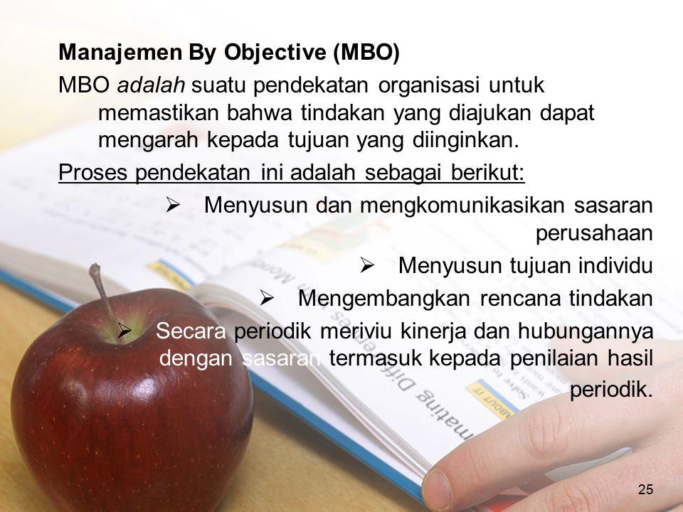 Manajemen By Objective (MBO)