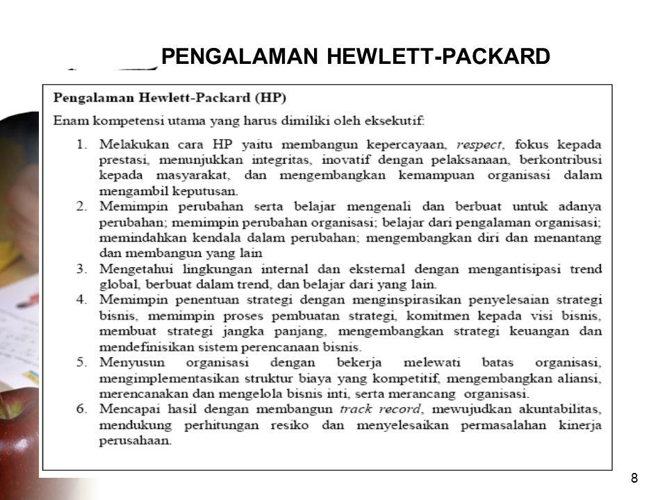 PENGALAMAN HEWLETT-PACKARD