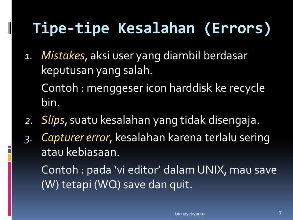 Tipe-tipe Kesalahan (Errors)