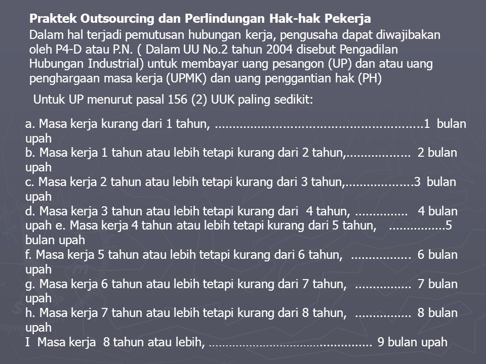 Praktek Outsourcing dan Perlindungan Hak-hak Pekerja