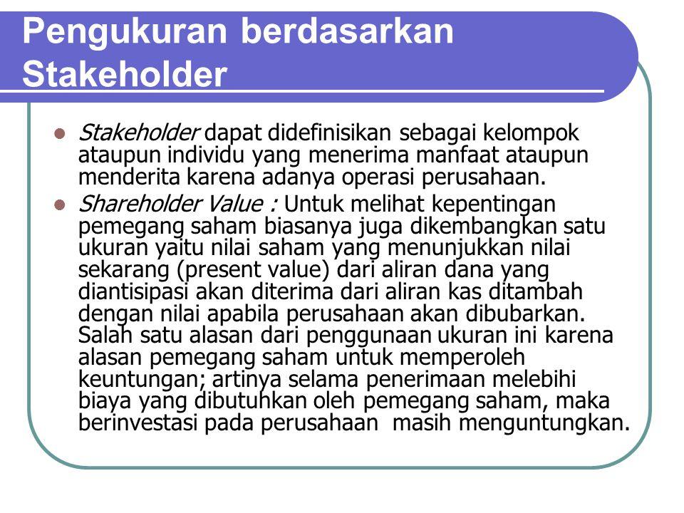 Pengukuran berdasarkan Stakeholder