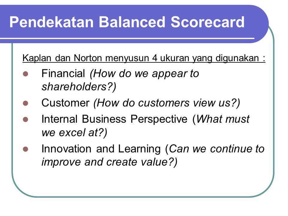 Pendekatan Balanced Scorecard