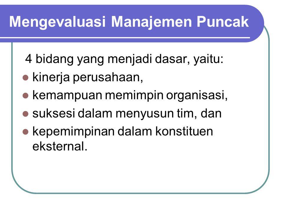 Mengevaluasi Manajemen Puncak