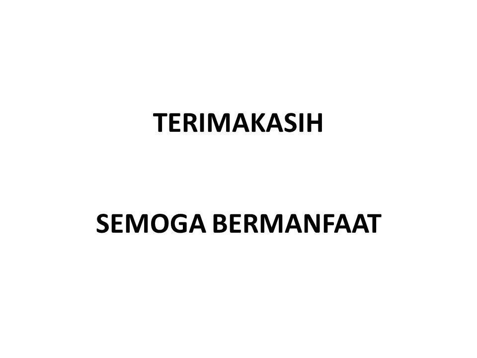 TERIMAKASIH SEMOGA BERMANFAAT