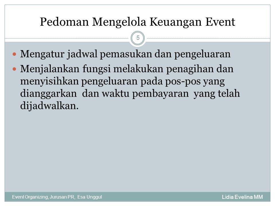 Pedoman Mengelola Keuangan Event
