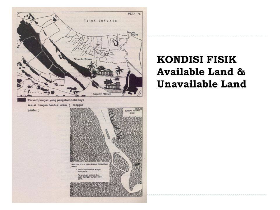 KONDISI FISIK Available Land & Unavailable Land