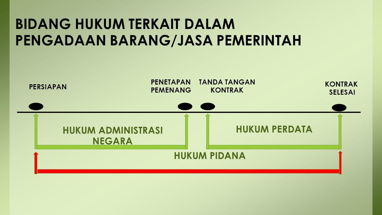 BIDANG HUKUM TERKAIT DALAM PENGADAAN BARANG/JASA PEMERINTAH