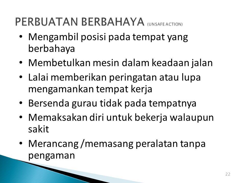 PERBUATAN BERBAHAYA (UNSAFE ACTION)