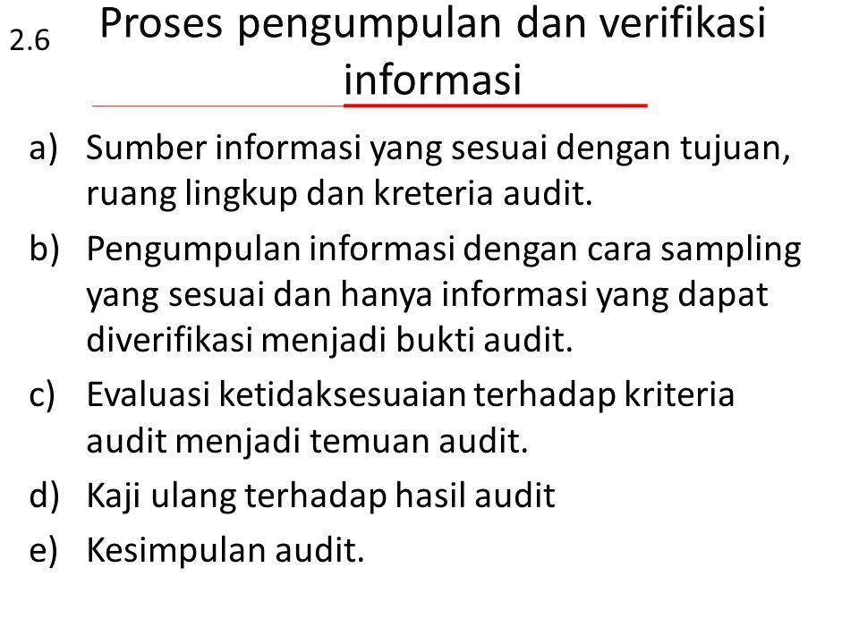 Proses pengumpulan dan verifikasi informasi
