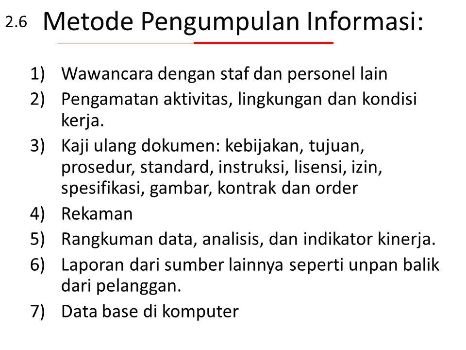 Metode Pengumpulan Informasi: