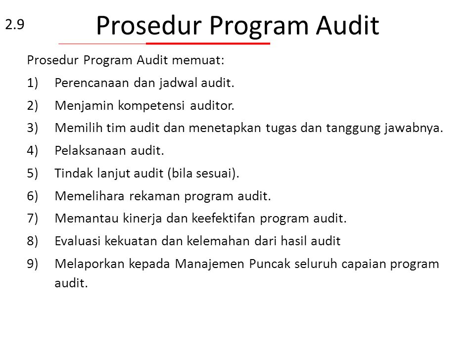Prosedur Program Audit