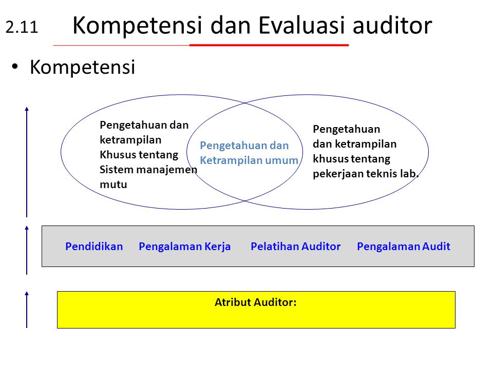 Kompetensi dan Evaluasi auditor