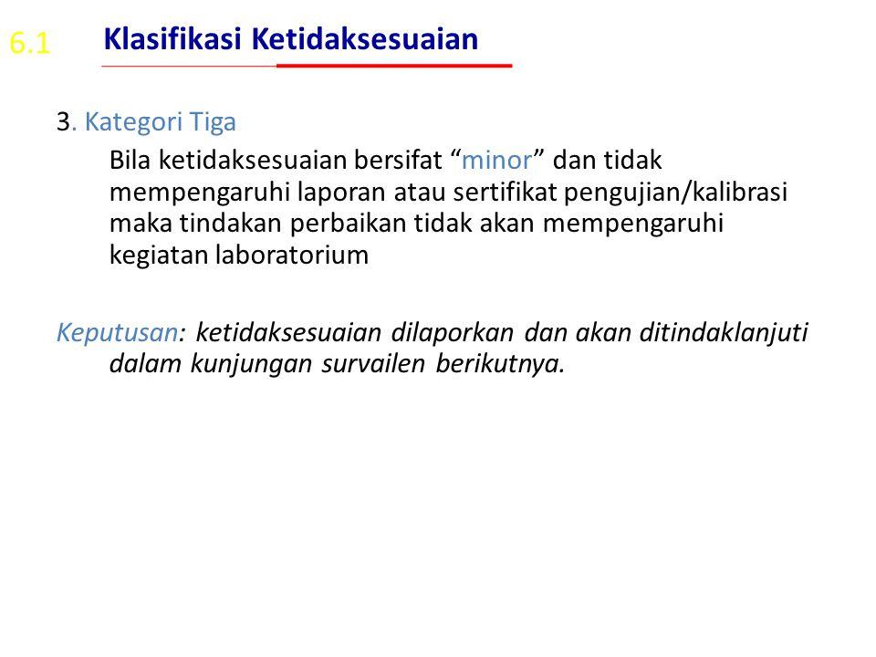 Klasifikasi Ketidaksesuaian 6.1