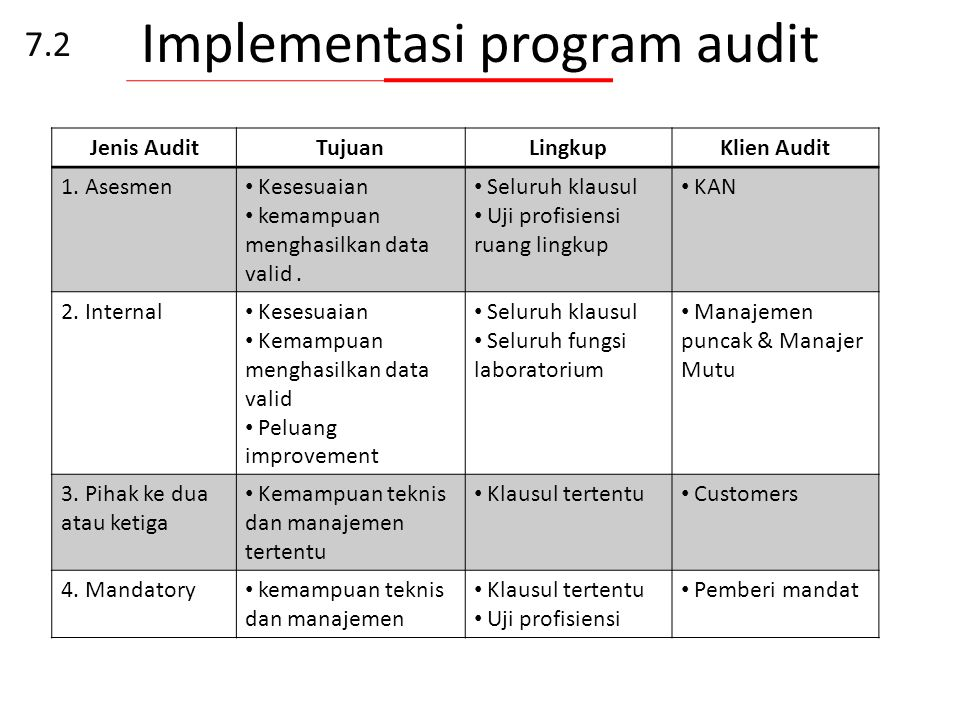Implementasi program audit