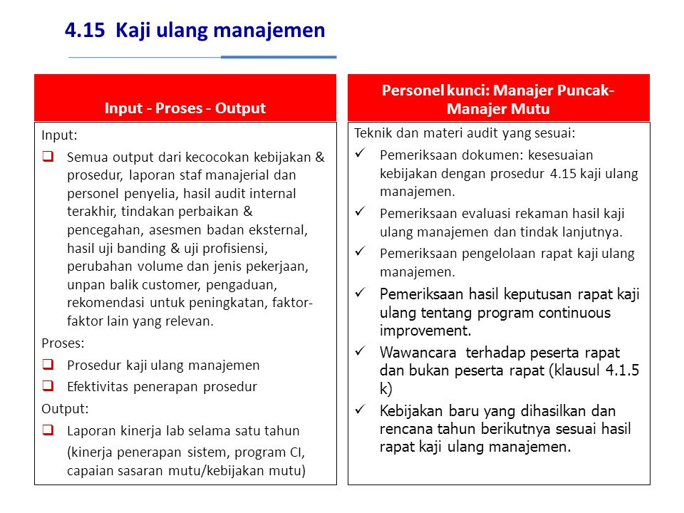 Personel kunci: Manajer Puncak-Manajer Mutu