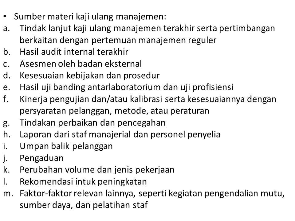 Sumber materi kaji ulang manajemen: