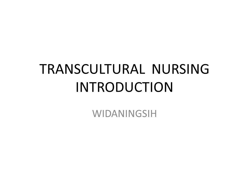 TRANSCULTURAL NURSING INTRODUCTION