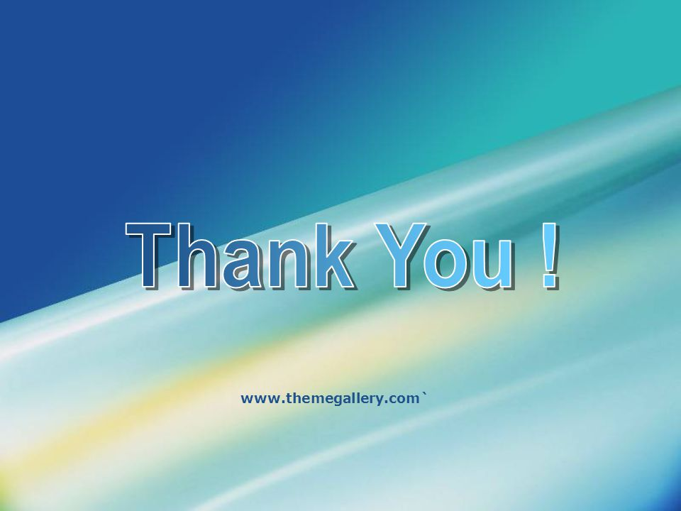 Thank You ! www.themegallery.com`