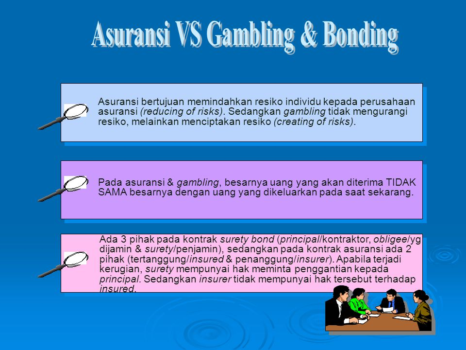 Asuransi VS Gambling & Bonding