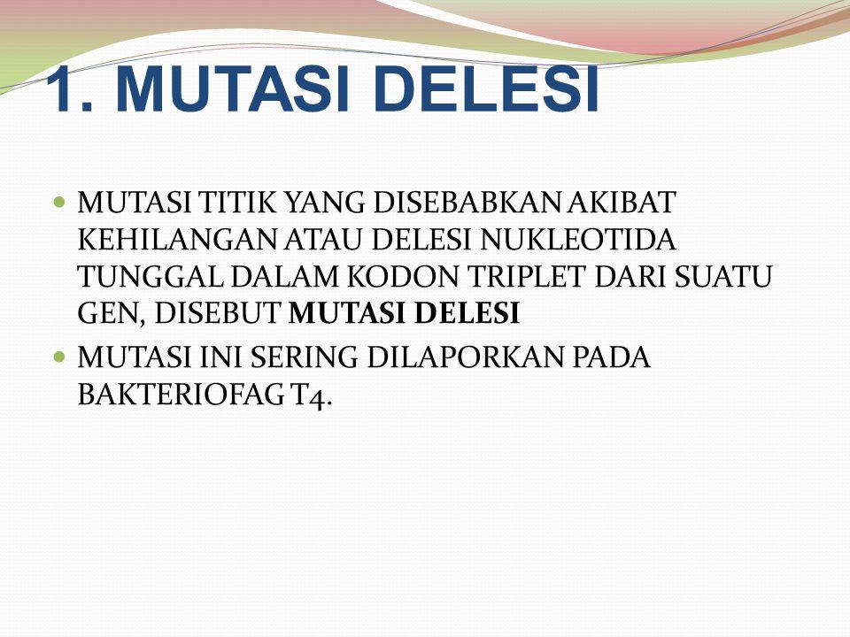 1. MUTASI DELESI