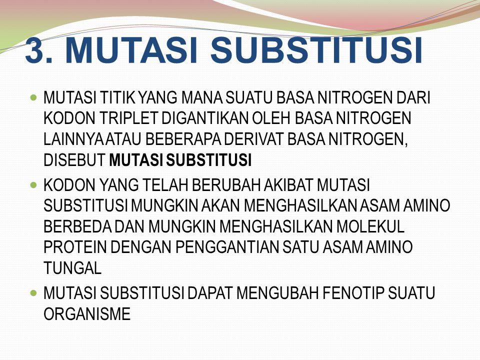 3. MUTASI SUBSTITUSI