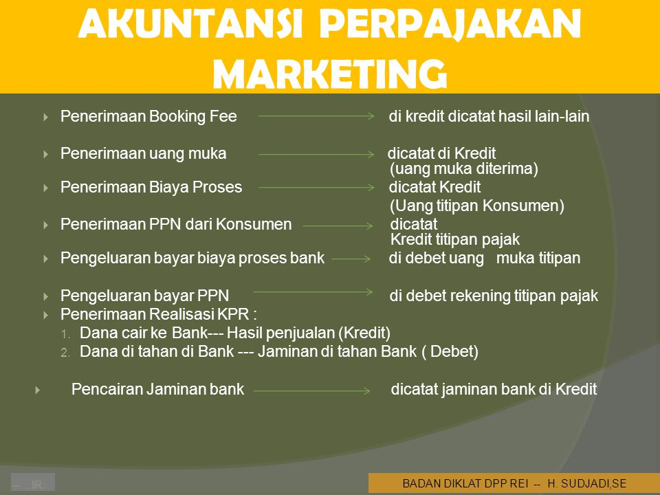 AKUNTANSI PERPAJAKAN MARKETING