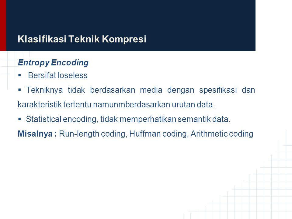 Klasifikasi Teknik Kompresi