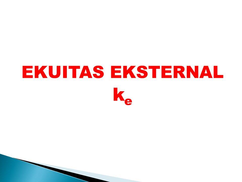 EKUITAS EKSTERNAL ke