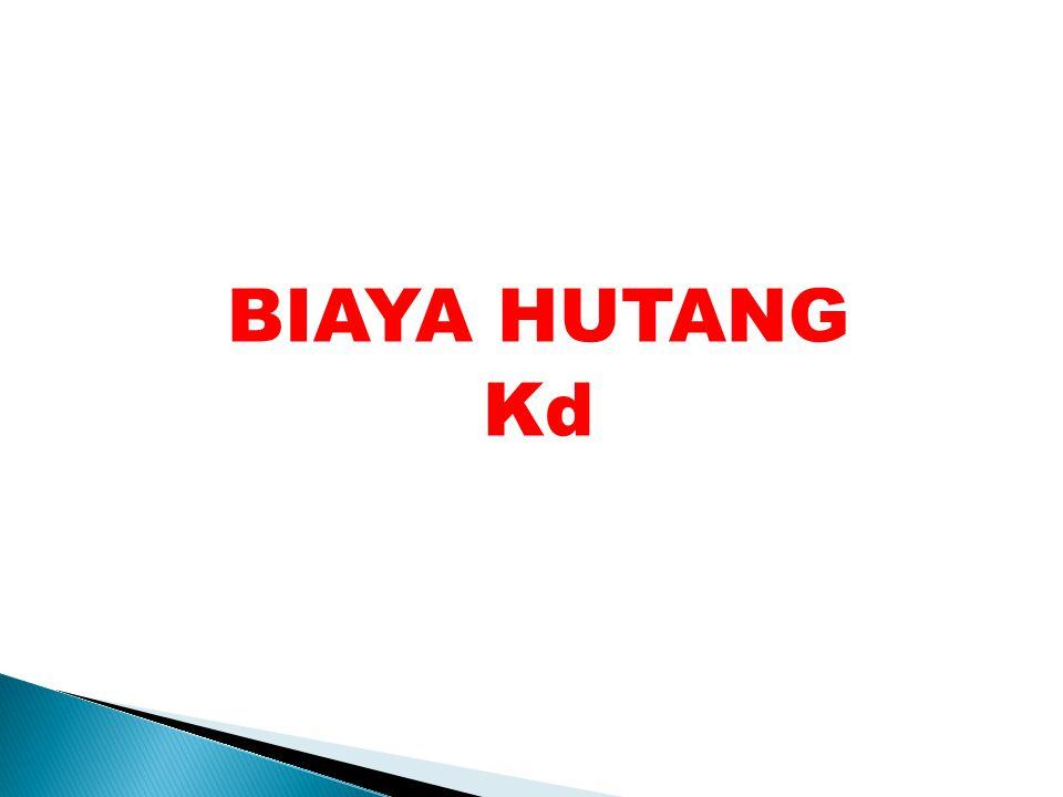 BIAYA HUTANG Kd