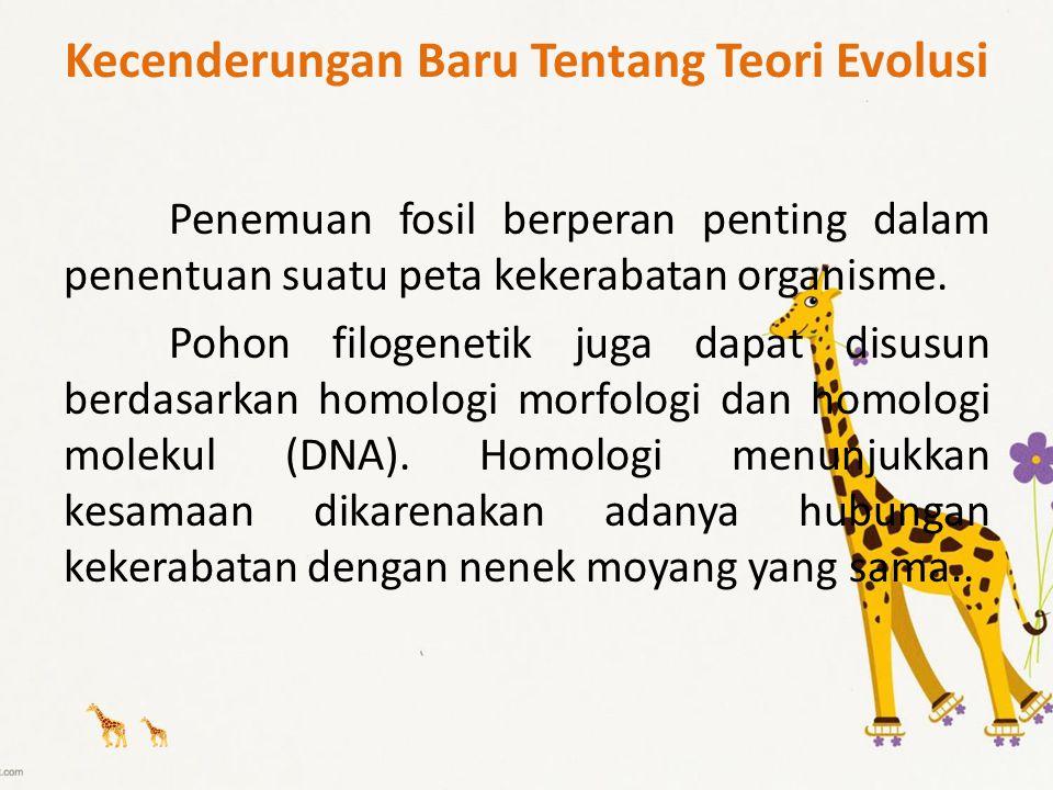 Kecenderungan Baru Tentang Teori Evolusi