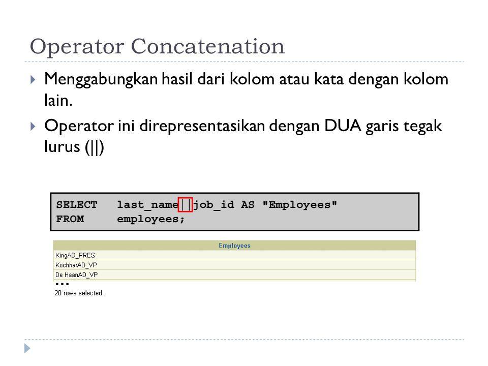 Operator Concatenation