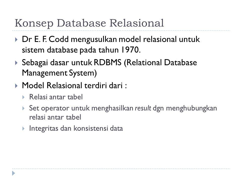 Konsep Database Relasional